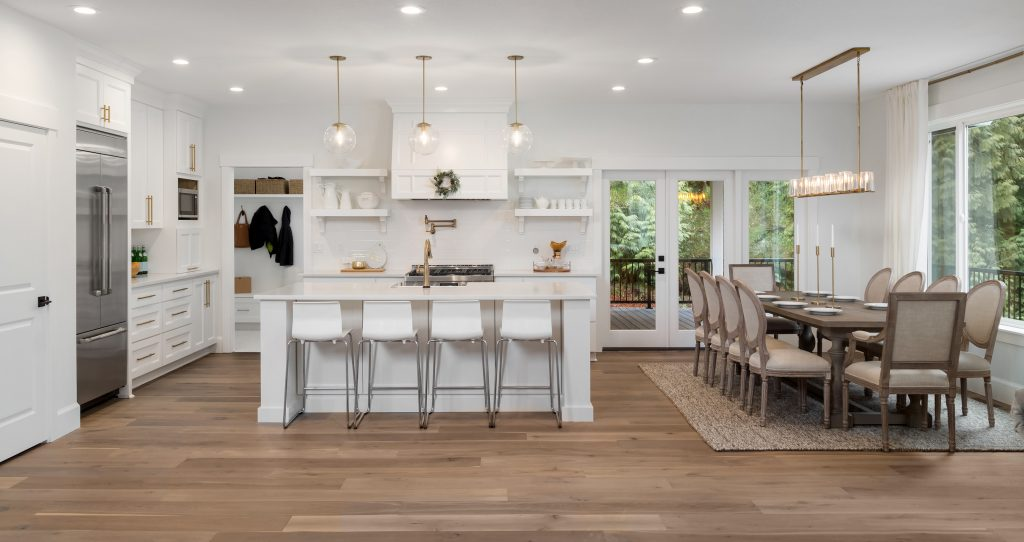 what are the best kitchen floors, luxury kitchen with hardwood floors