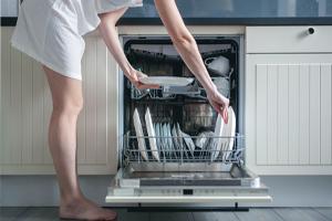 AVOID HAND WASHING DISHES, USE THE DISHWASHER